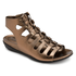 truJoris Combat Lace Up Women's Sandals in Brown